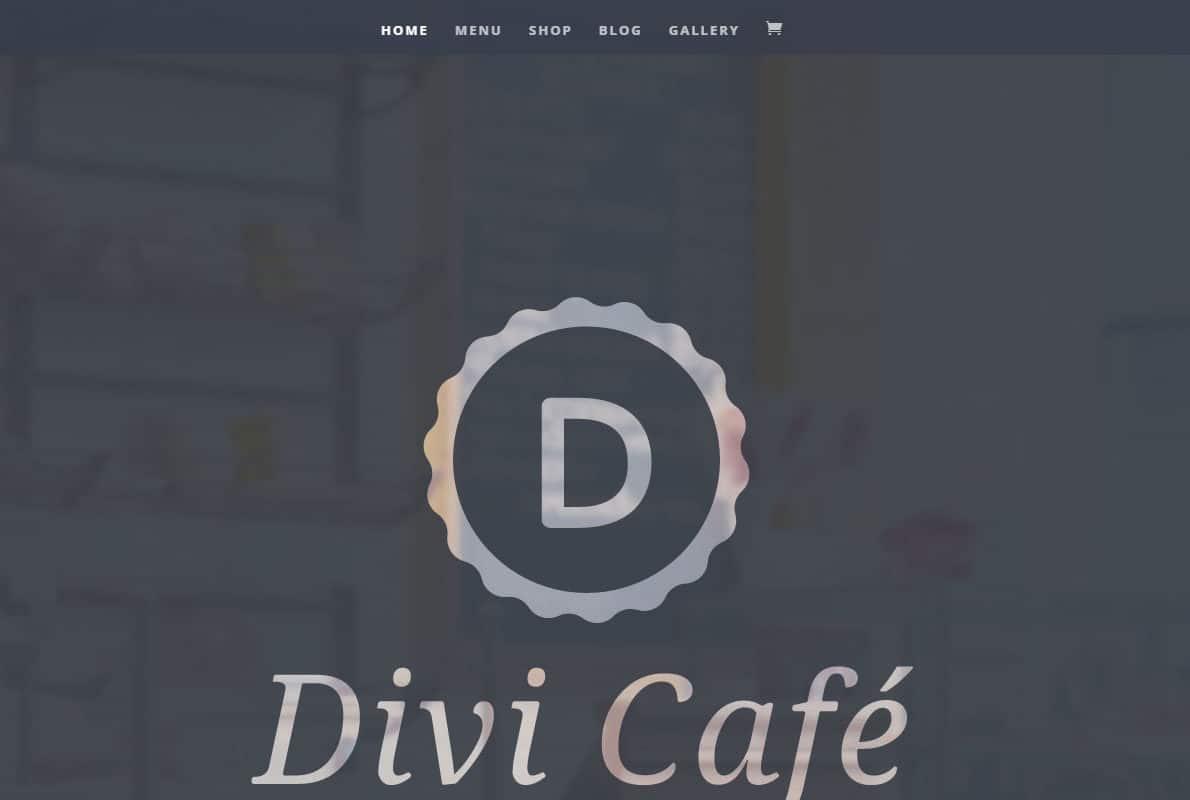 Divi Cafe Divi Theme Example