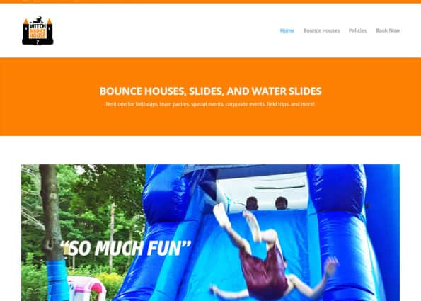 Witch Bounce House on Divi Gallery