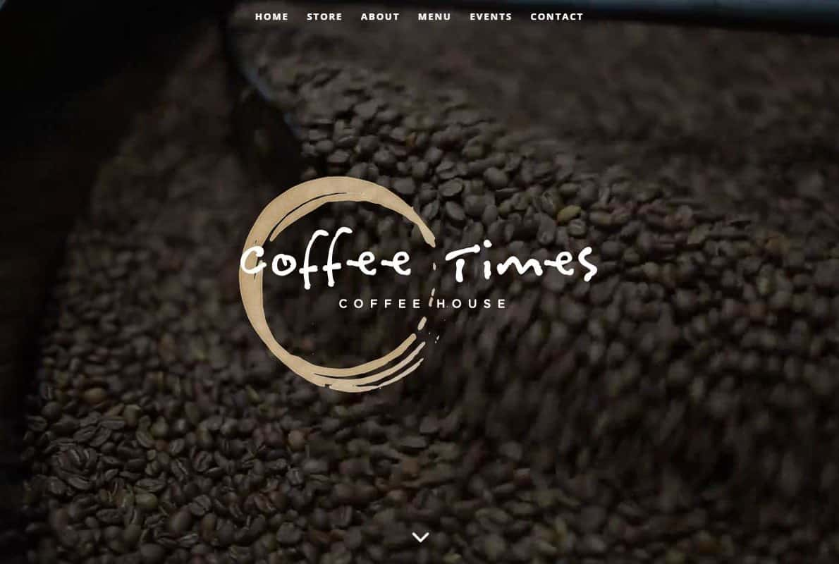 Coffee Times Coffee House Divi Theme Example