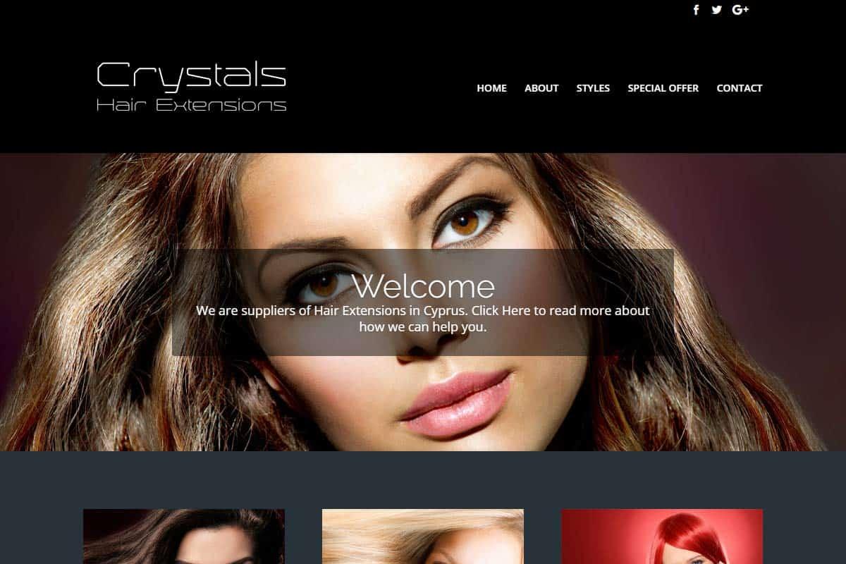 Crystals Hair Extensions Website Divi Gallery