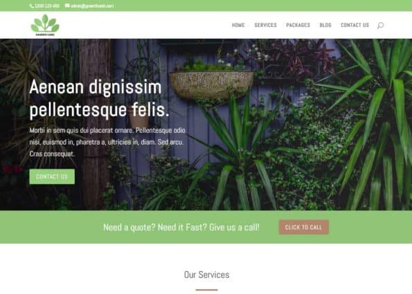 Green Thumb on Divi Gallery