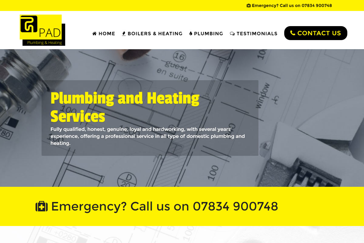 Pad Plumbing And Heating Construction Divi Website Example Diagram Software Gallery
