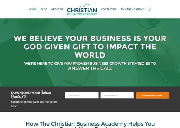 Christian Business Academy on Divi Gallery
