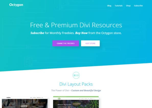 Octygon on Divi Gallery