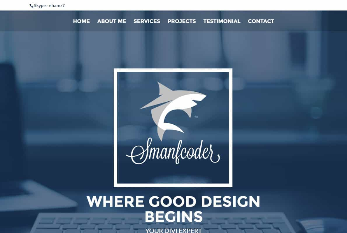 Smartcoder3 Divi Theme Example