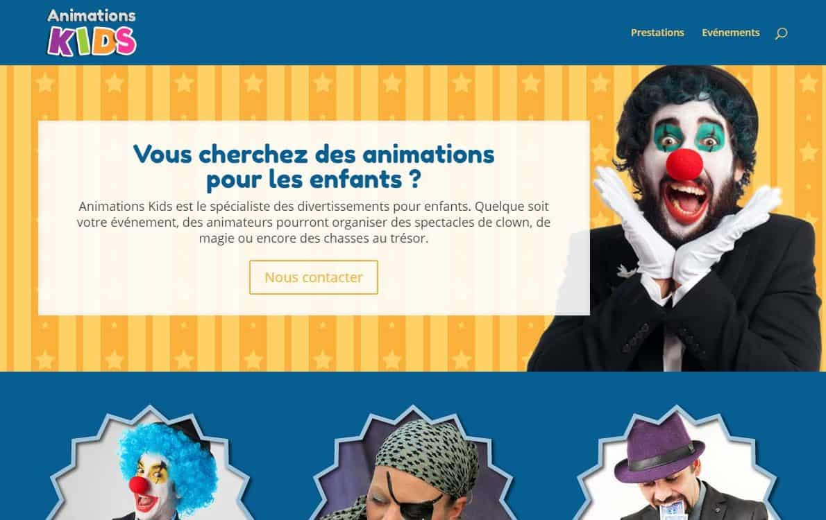 Animations Kids Divi Theme Example