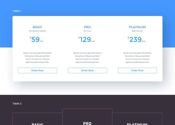 Divi Pricing Layout Pack on Divi Gallery