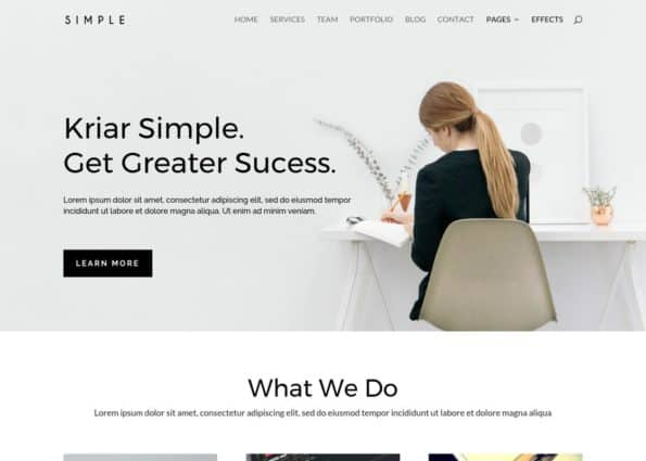 Kriar Simple on Divi Gallery