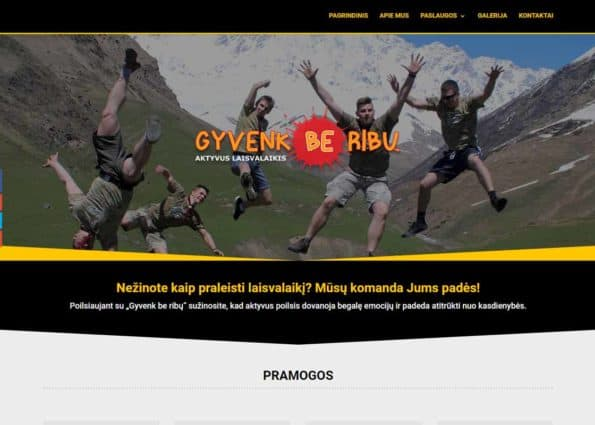 Gyvenk Be Ribu on Divi Gallery
