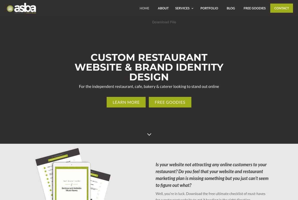 ASBA Creative Studio Divi Theme Example