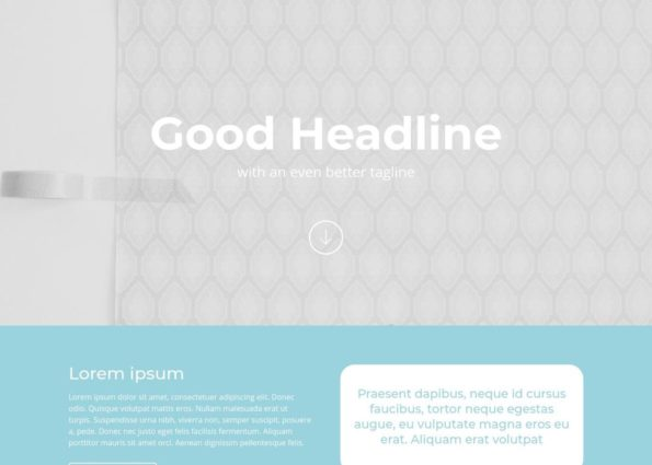 Agency Homepage layout on Divi Gallery