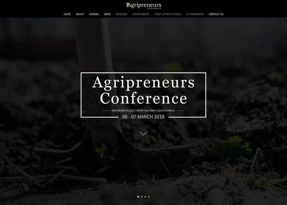Agripreneurs Conference Divi Theme Example