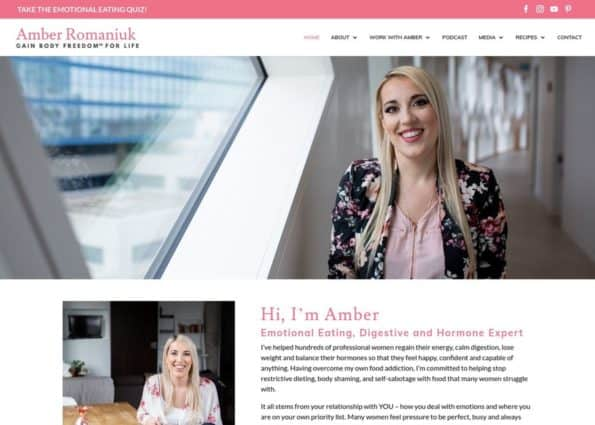 Amber Approved | Healthy Eating Coach on Divi Gallery