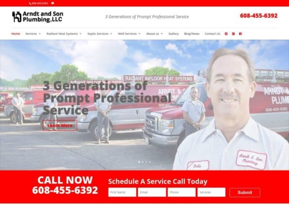 Arndt & Son Plumbing, LLC. on Divi Gallery