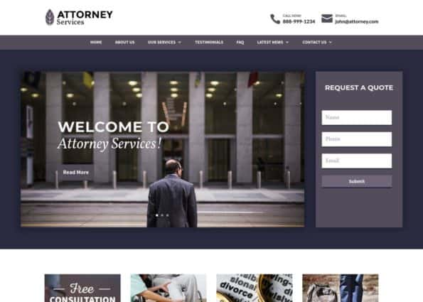 Attorney Theme on Divi Gallery