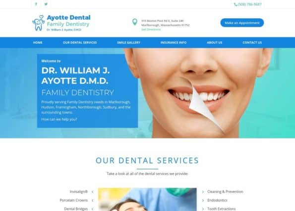 Ayotte Dental Family Dentistry on Divi Gallery