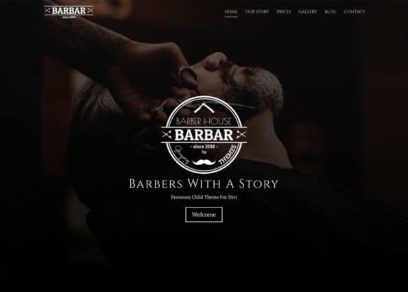 Barbar Barber House on Divi Gallery