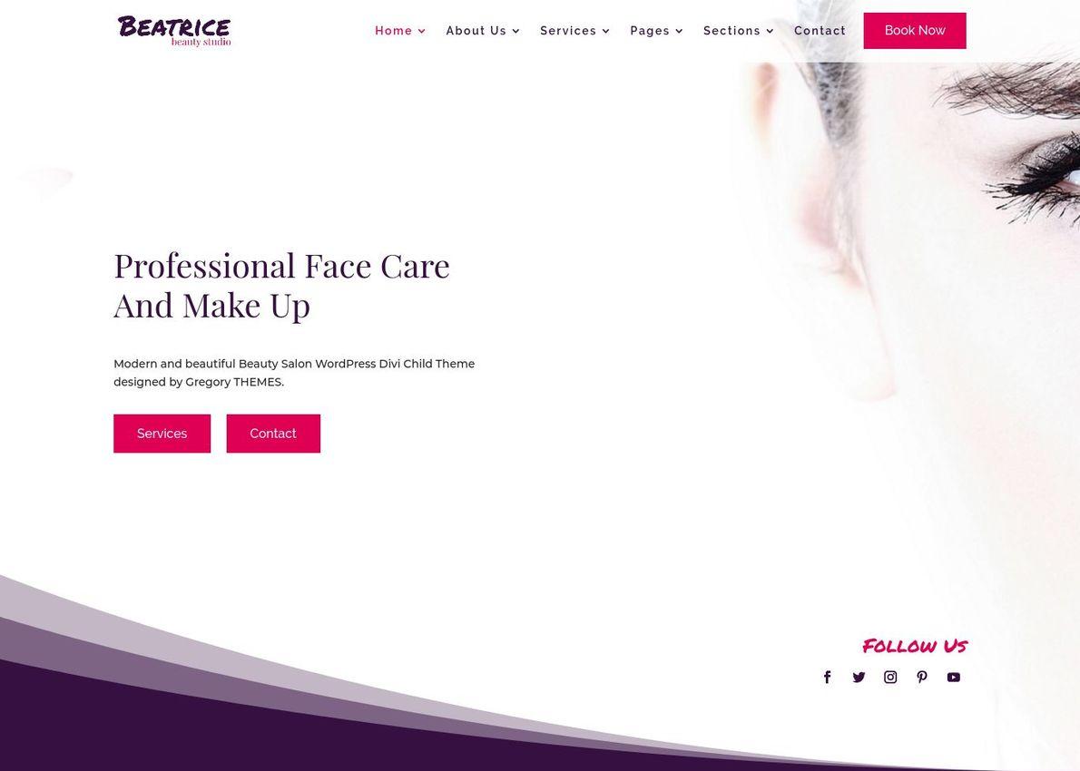 Beatrice Beauty Salon Multipurpose Theme Divi Theme Example