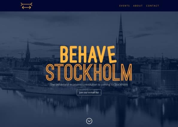 Behave Stockholm on Divi Gallery