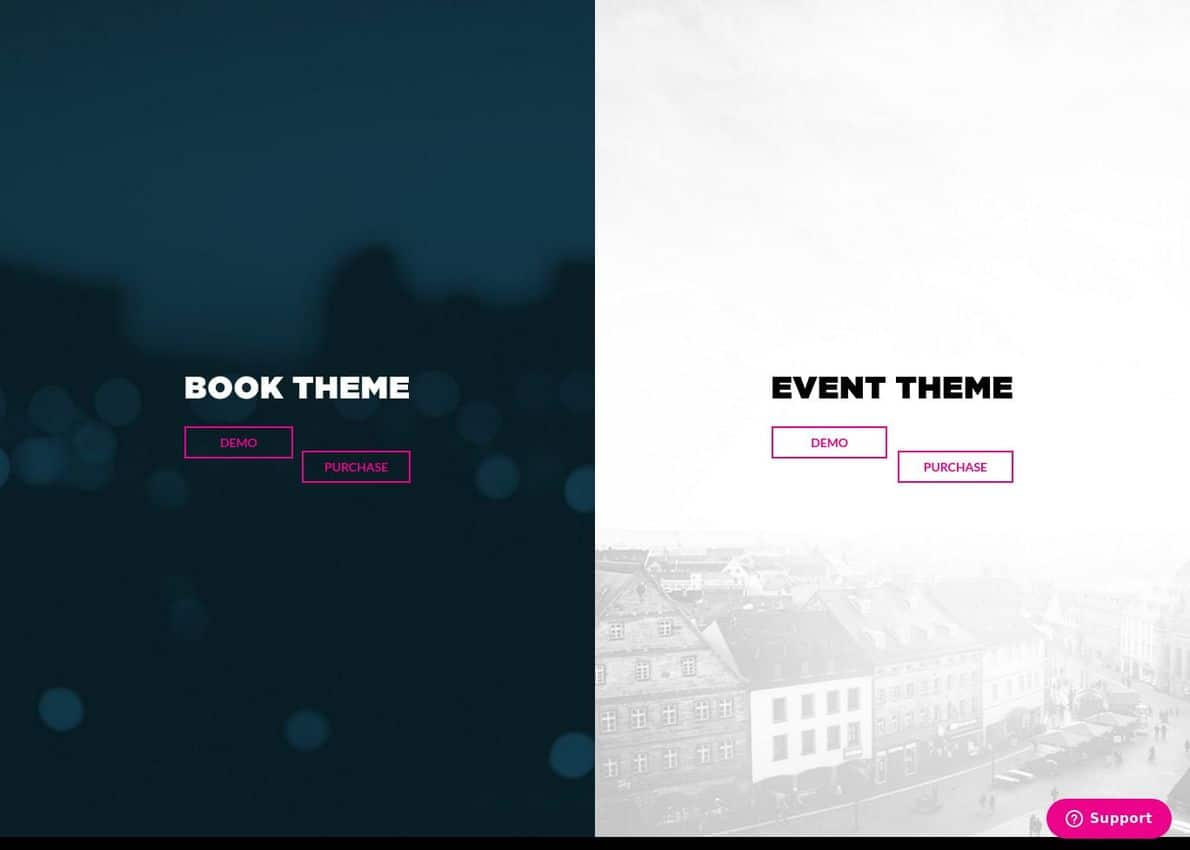 Book+Event Theme Bundle Divi Theme Example