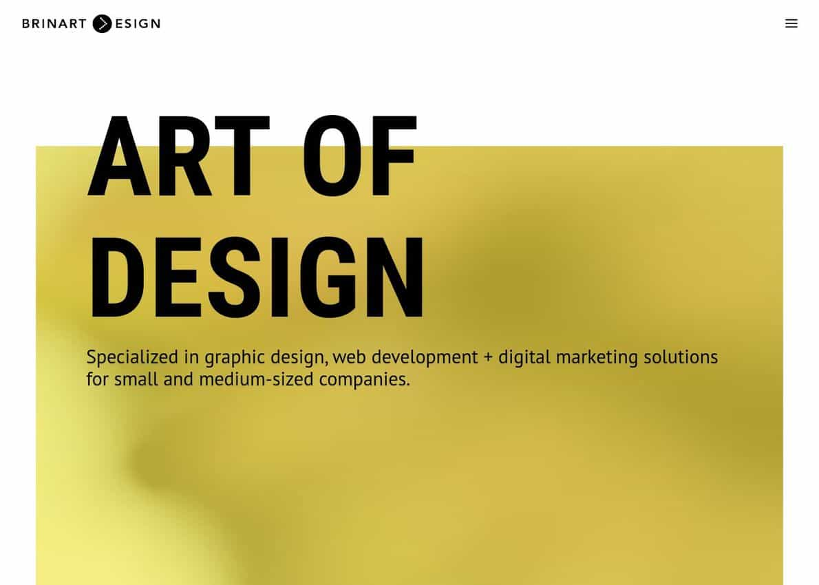 Brinart Design Divi Theme Example