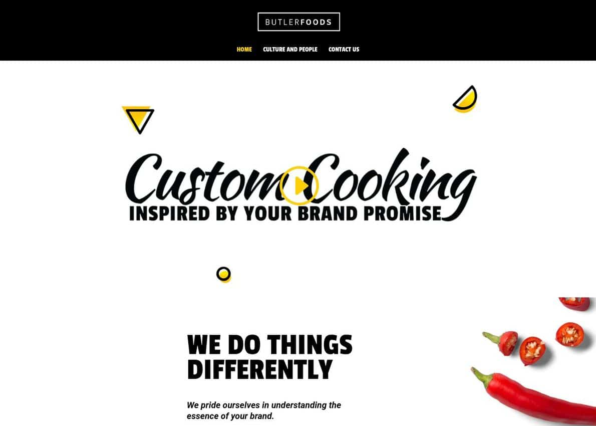 ButlerFoods Divi Theme Example