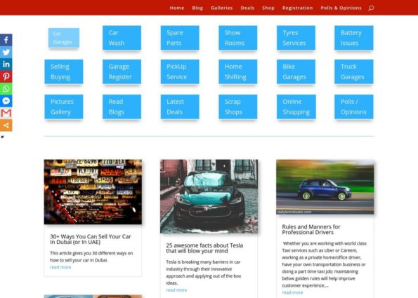 Car Services on Divi Gallery