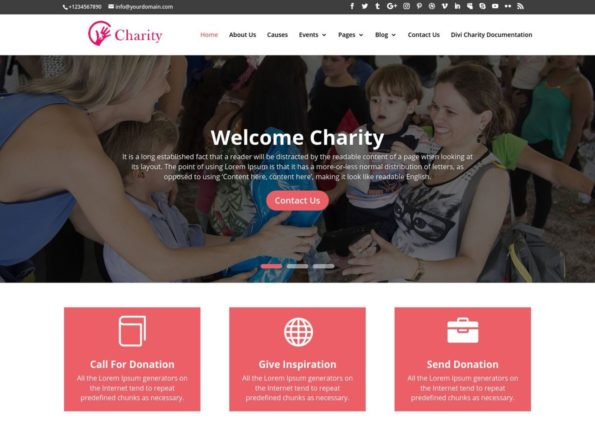 Charity Theme on Divi Gallery