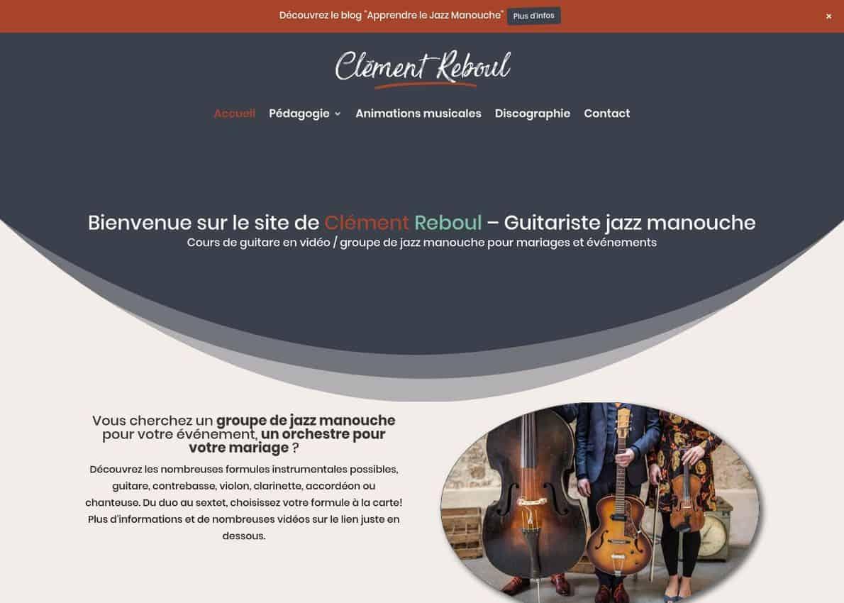 Clément Reboul Divi Theme Example