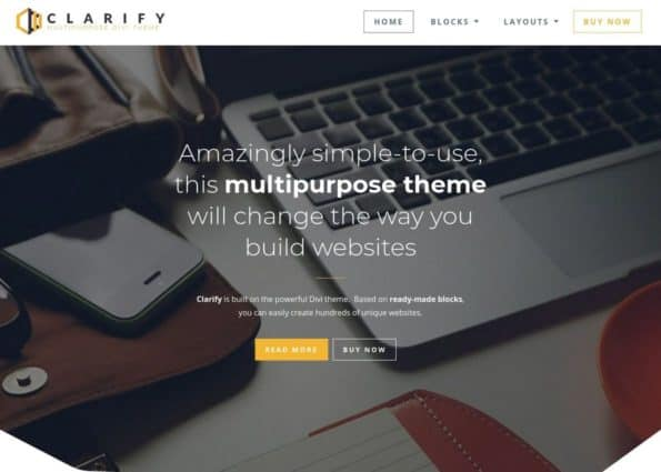 Clarify Theme on Divi Gallery