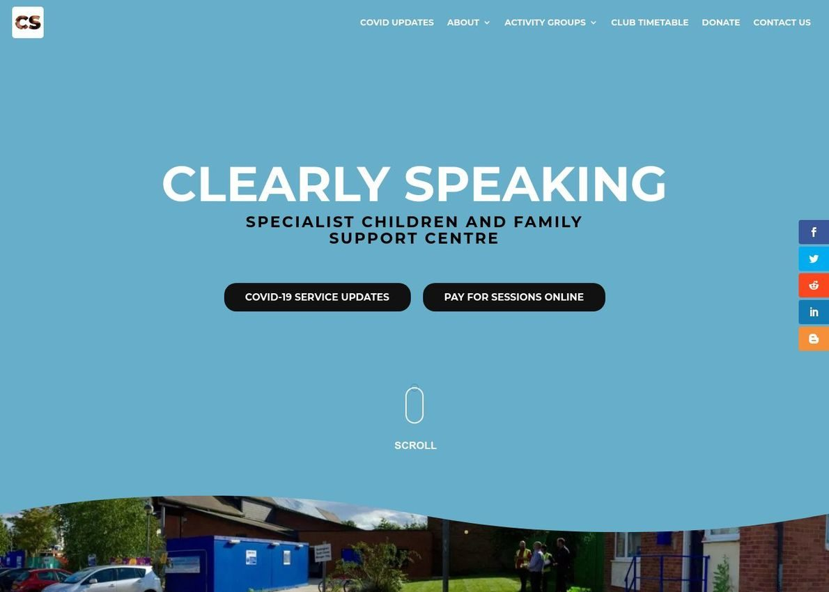 Clearly speaking Divi Theme Example