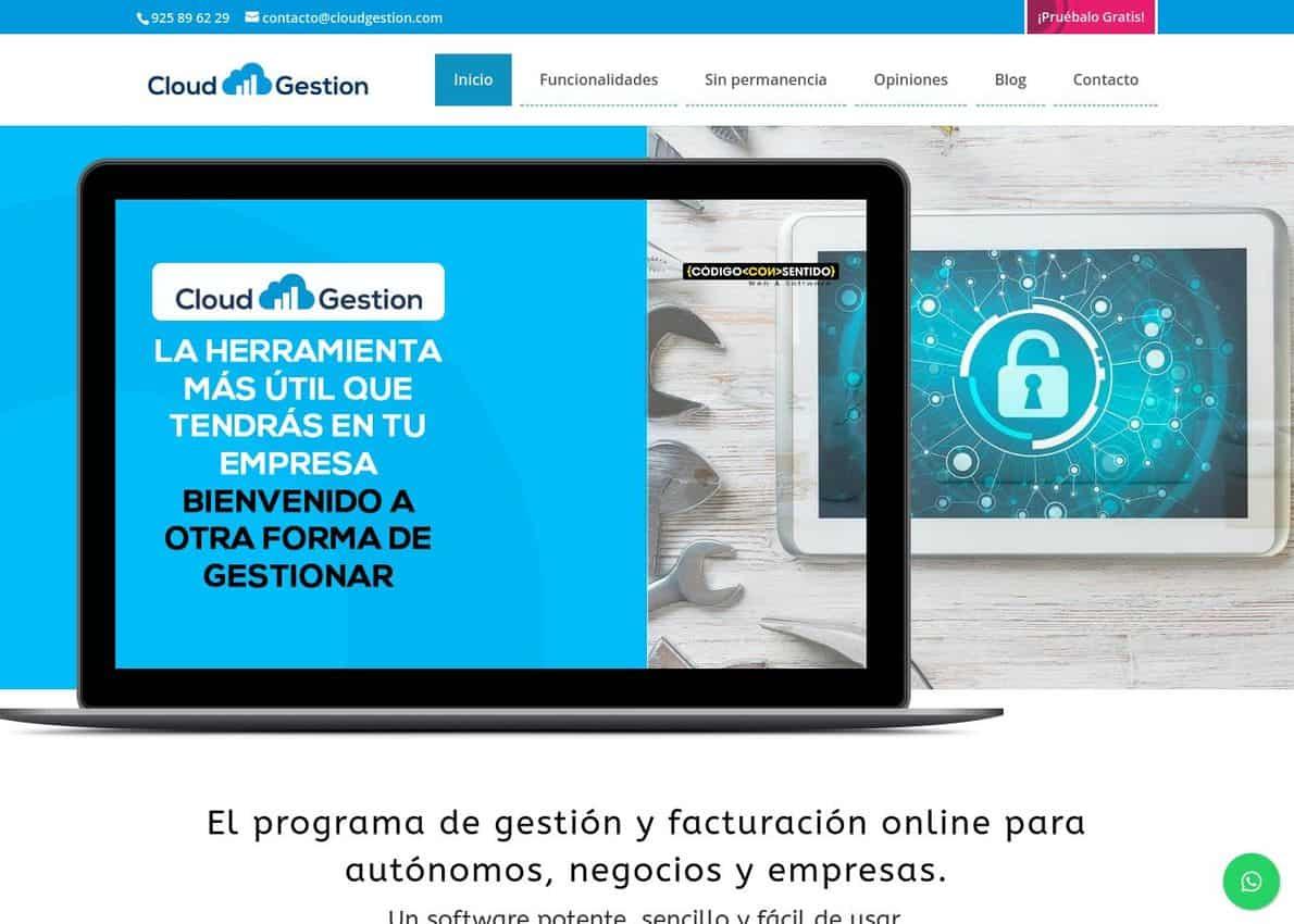 Cloud Gestion Divi Theme Example