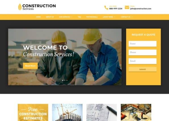 Construction Theme on Divi Gallery