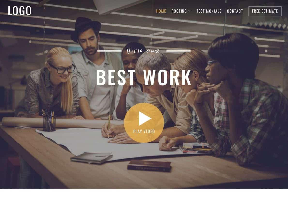 Construction Theme + Project Pack Divi Theme Example