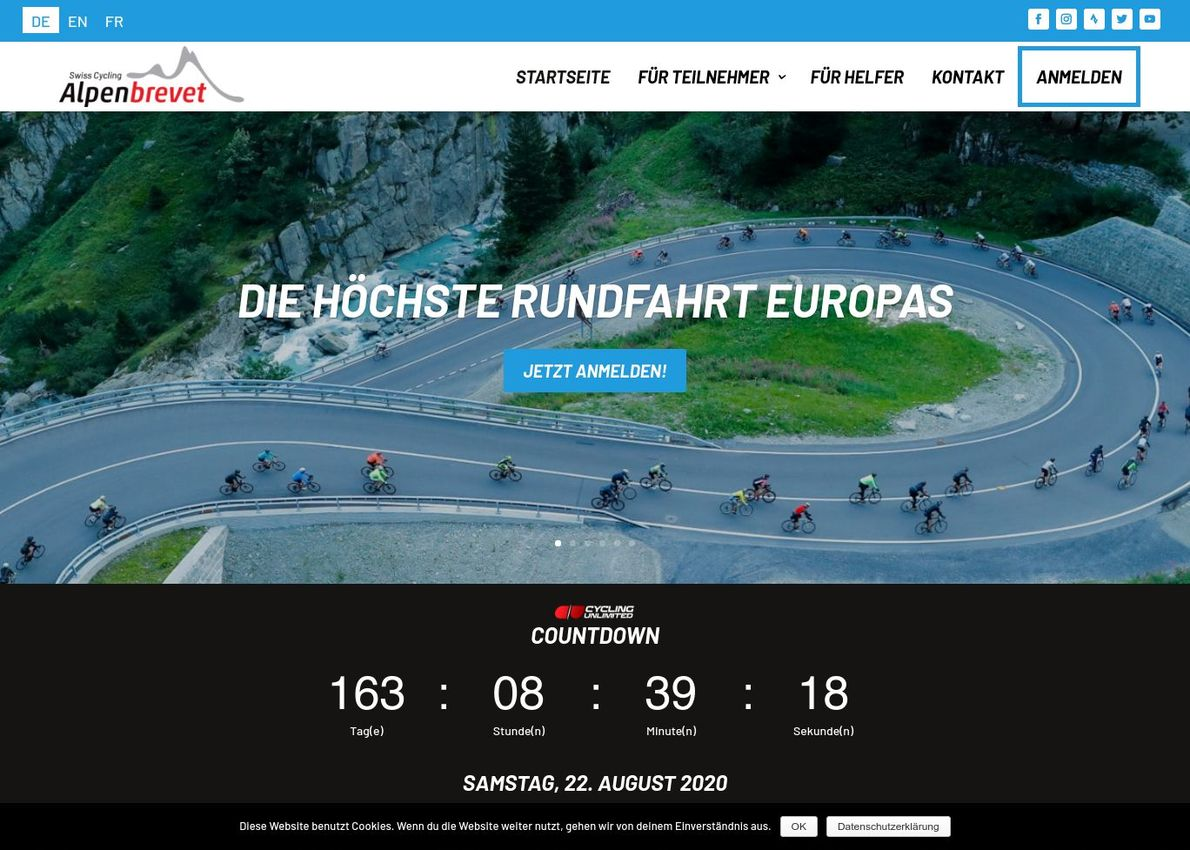 Cycling Event Divi Theme Example