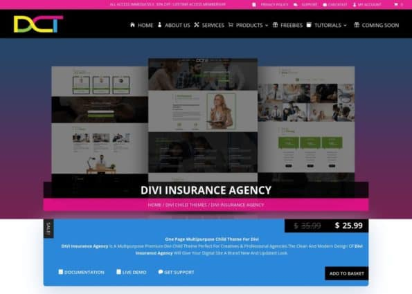 Divi Insurance Agency on Divi Gallery
