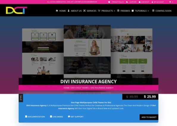 Divi Insurance Agency on Divi Gallery
