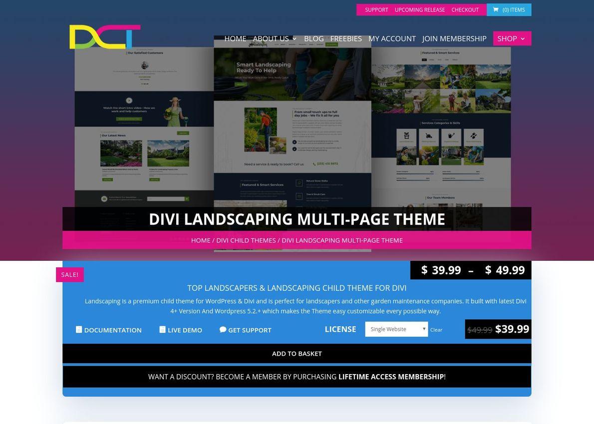 DIVI Landscaping Multi-Page Theme Divi Theme Example