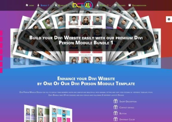 Divi Person Module Bundle 1 on Divi Gallery