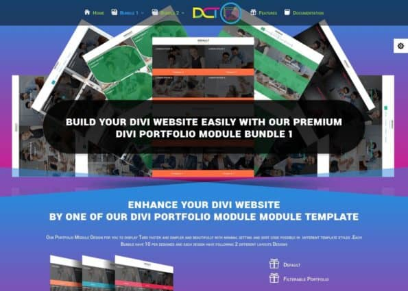 Divi Portfolio Module Bundle 1 on Divi Gallery