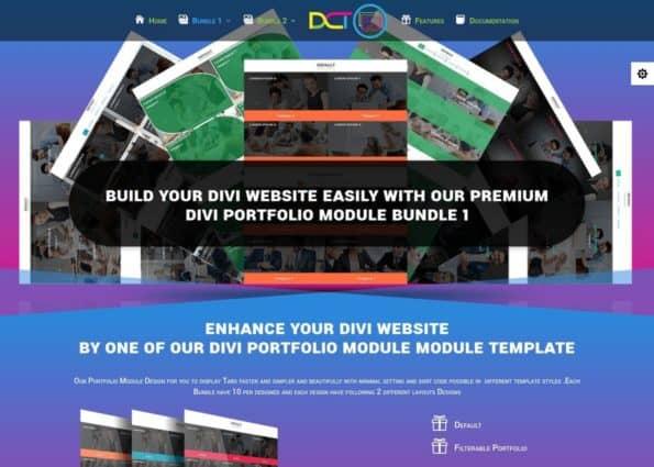 Divi Portfolio Module Bundle 1 on Divi Gallery