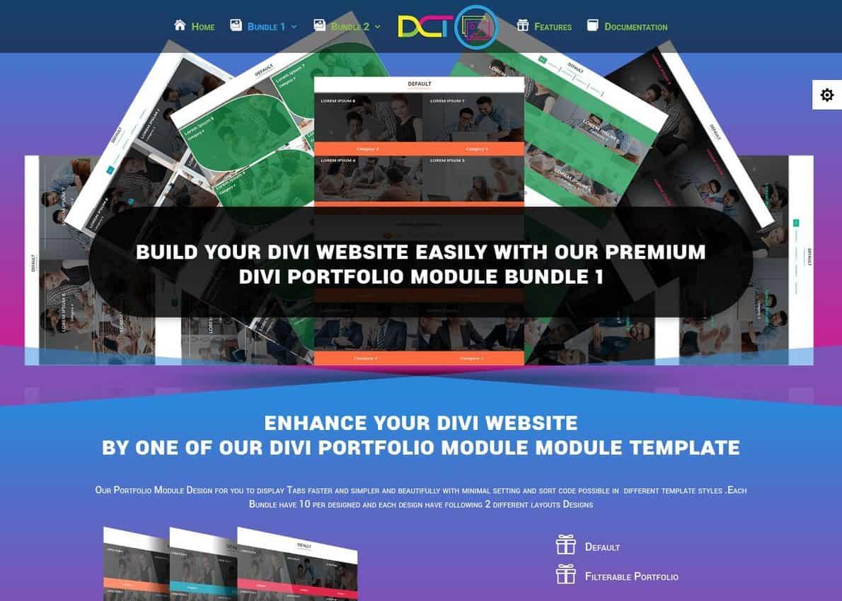 Divi Portfolio Module Bundle 1 Divi Theme Example