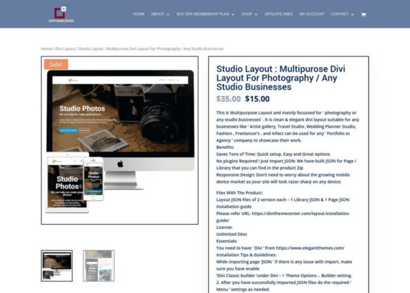 DIVI STUDIO LAYOUT on Divi Gallery