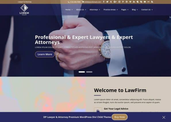 DP Lawyer & Attorney Theme on Divi Gallery