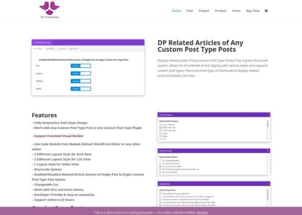 DP Related Articles of Any Custom Post Type Posts on Divi Gallery
