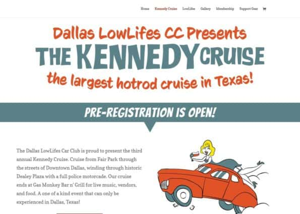 Dallas Lowlifes Car Club on Divi Gallery