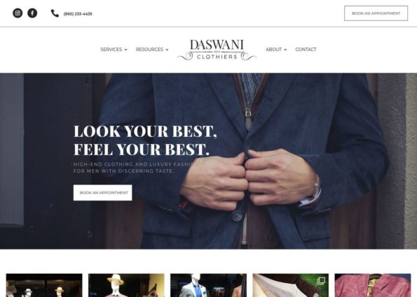 Daswani Clothiers on Divi Gallery
