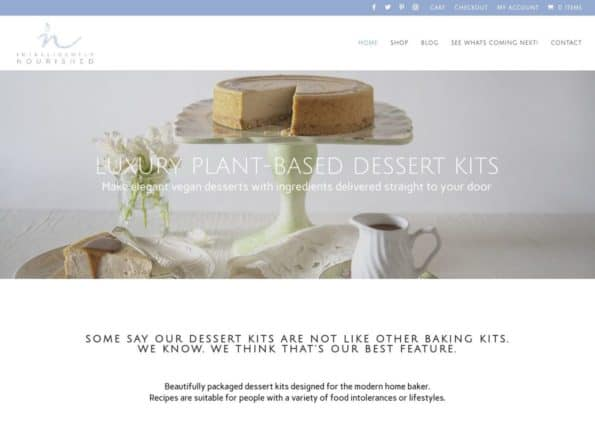 Dessert Kit E-Commerce Website on Divi Gallery