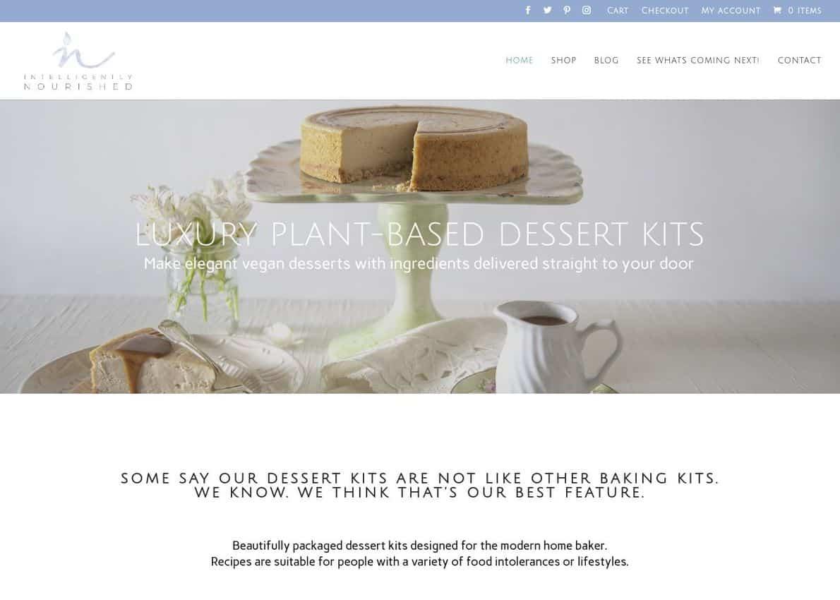 Dessert Kit E-Commerce Website Divi Theme Example