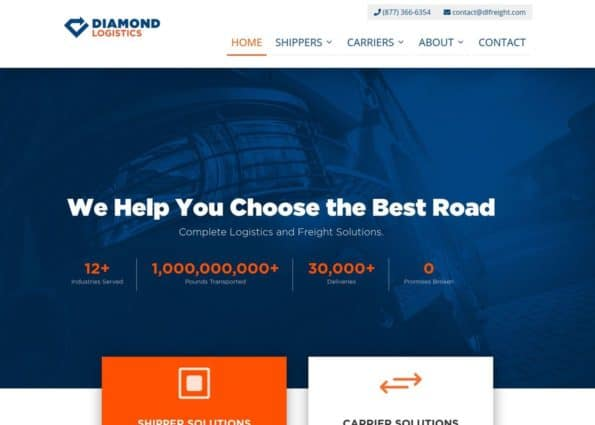 Diamond Logistics on Divi Gallery